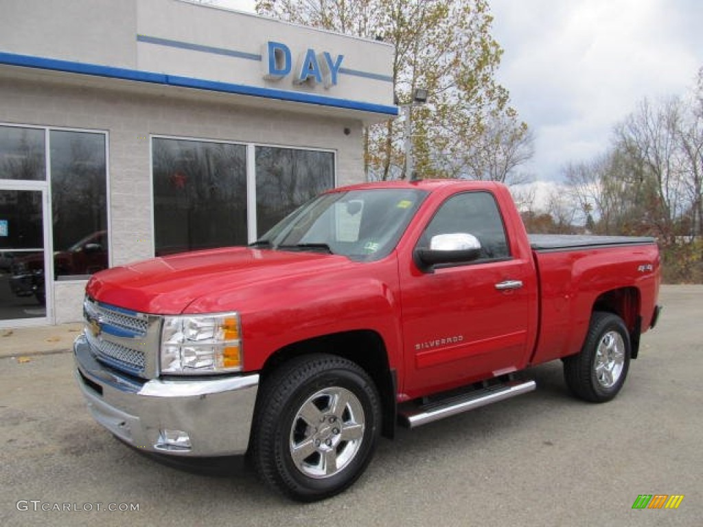 2012 Silverado 1500 LT Regular Cab 4x4 - Victory Red / Ebony photo #1