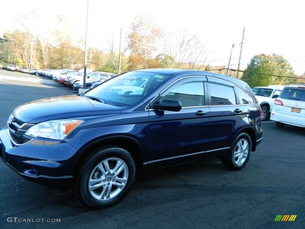2011 CR-V EX 4WD - Royal Blue Pearl / Black photo #1