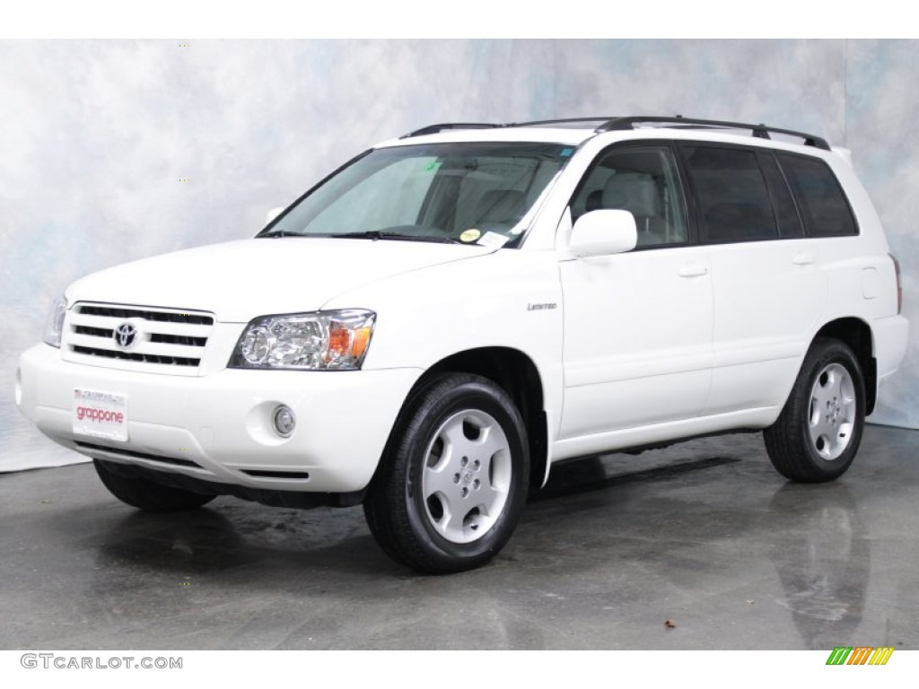2005 Super White Toyota Highlander Limited 4wd 56398152