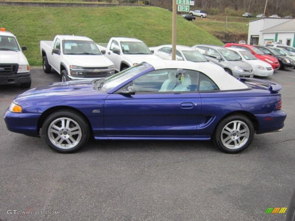 All Types 1995 mustang convertible : Sapphire Blue Metallic 1995 Ford Mustang GT Convertible Exterior ...