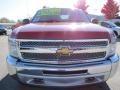 2012 Victory Red Chevrolet Silverado 1500 LS Crew Cab 4x4  photo #2