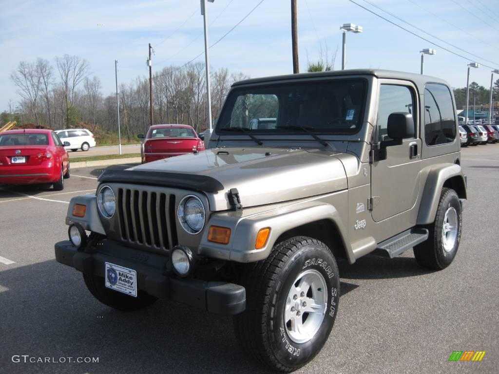 2004 light khaki metallic jeep wrangler sahara 4x4 #5608413