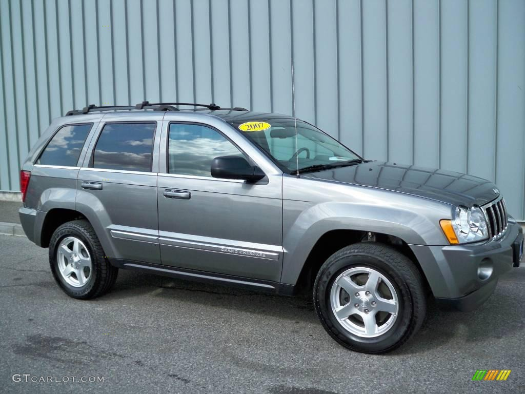 2007 mineral gray metallic jeep grand cherokee limited 4x4 5601805 car color. Black Bedroom Furniture Sets. Home Design Ideas
