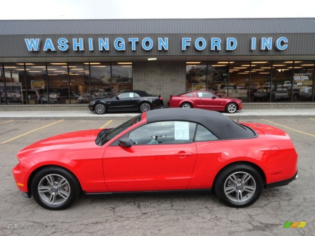 2011 Mustang V6 Premium Convertible - Race Red / Charcoal Black photo #1