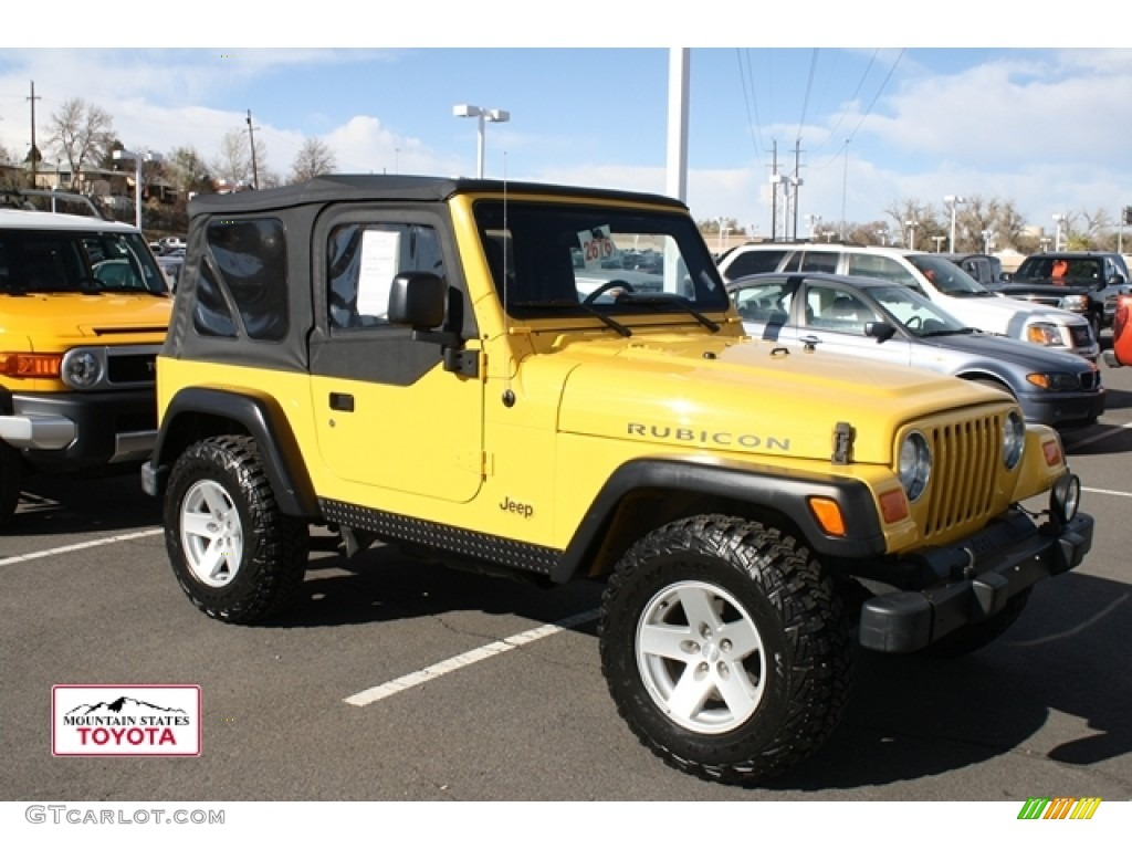 2006 solar yellow jeep wrangler rubicon 4x4 56451468. Black Bedroom Furniture Sets. Home Design Ideas