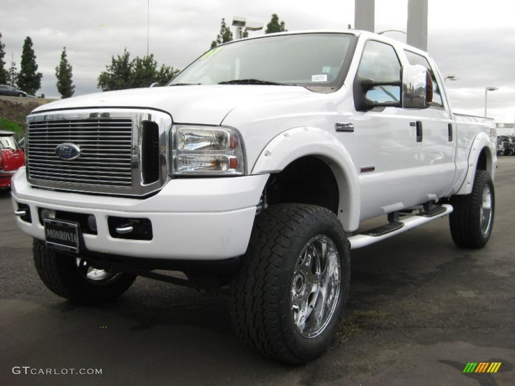 2007 oxford white clearcoat ford f250 super duty lariat crew cab 4x4 56451607. Black Bedroom Furniture Sets. Home Design Ideas