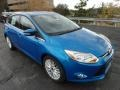 2012 Blue Candy Metallic Ford Focus SEL 5-Door  photo #1