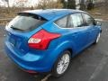 2012 Blue Candy Metallic Ford Focus SEL 5-Door  photo #2