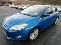 2012 Blue Candy Metallic Ford Focus SEL 5-Door  photo #5