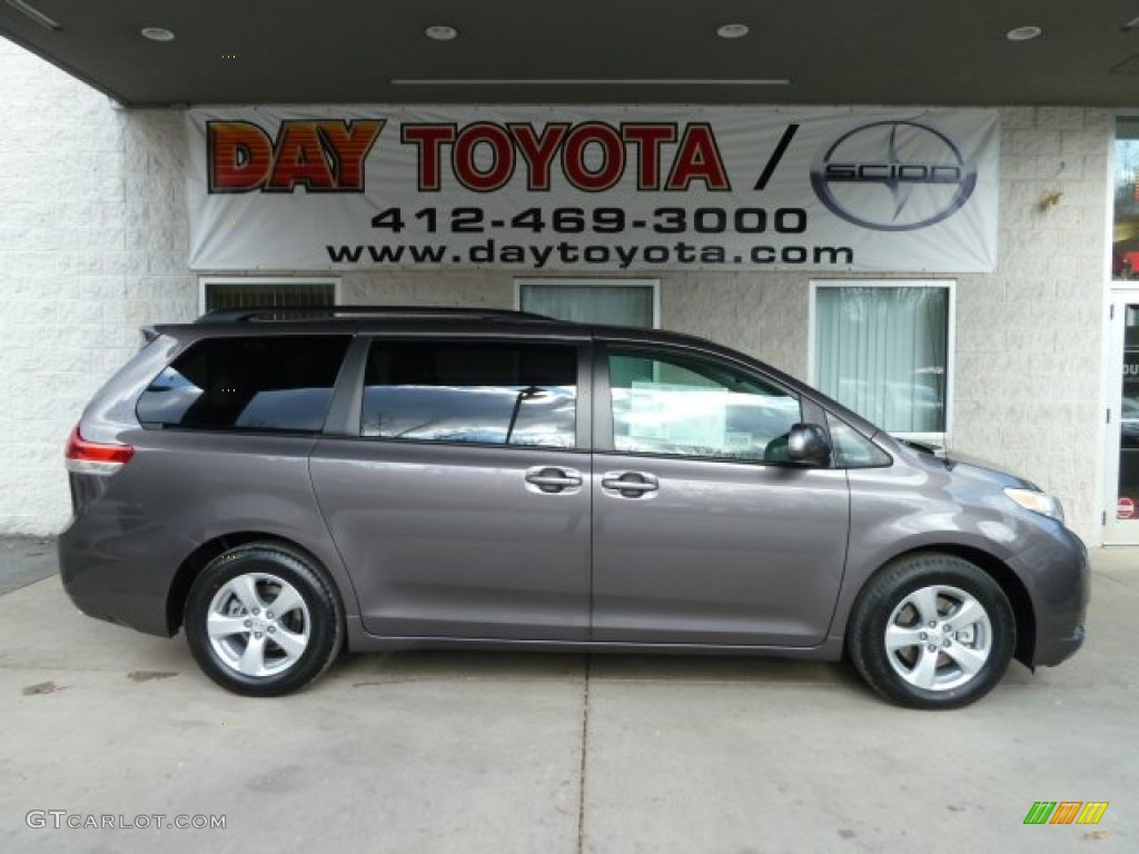 2012 Sienna LE - Predawn Gray Mica / Light Gray photo #1