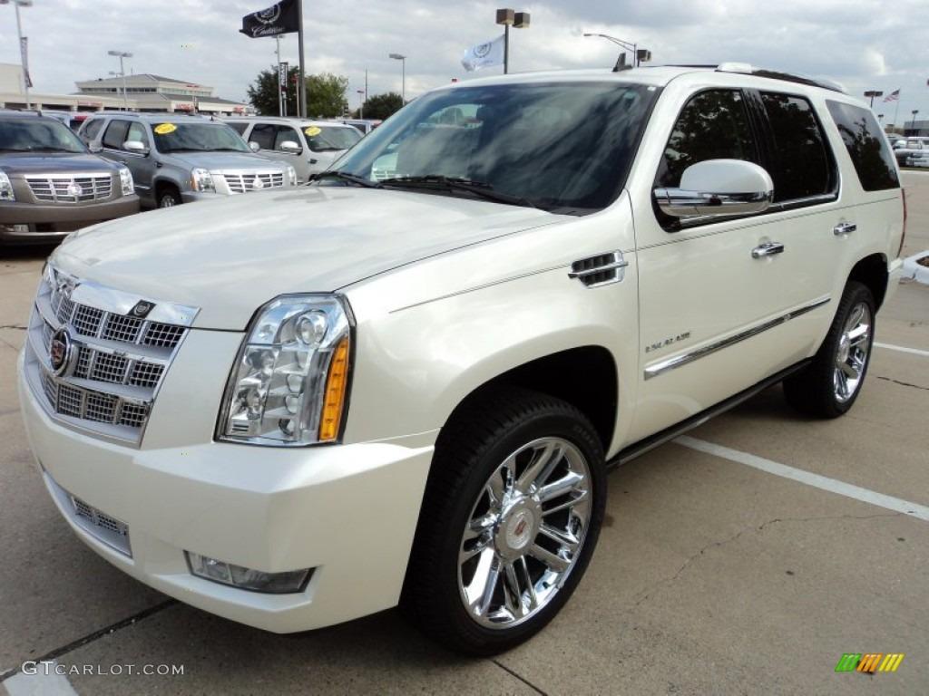White Diamond Tricoat 2012 Cadillac Escalade Platinum
