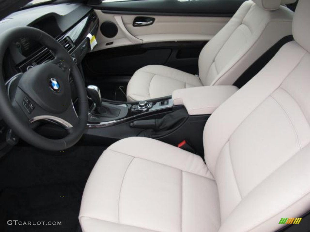 Oyster Black Interior 2012 BMW 3 Series 328i Convertible