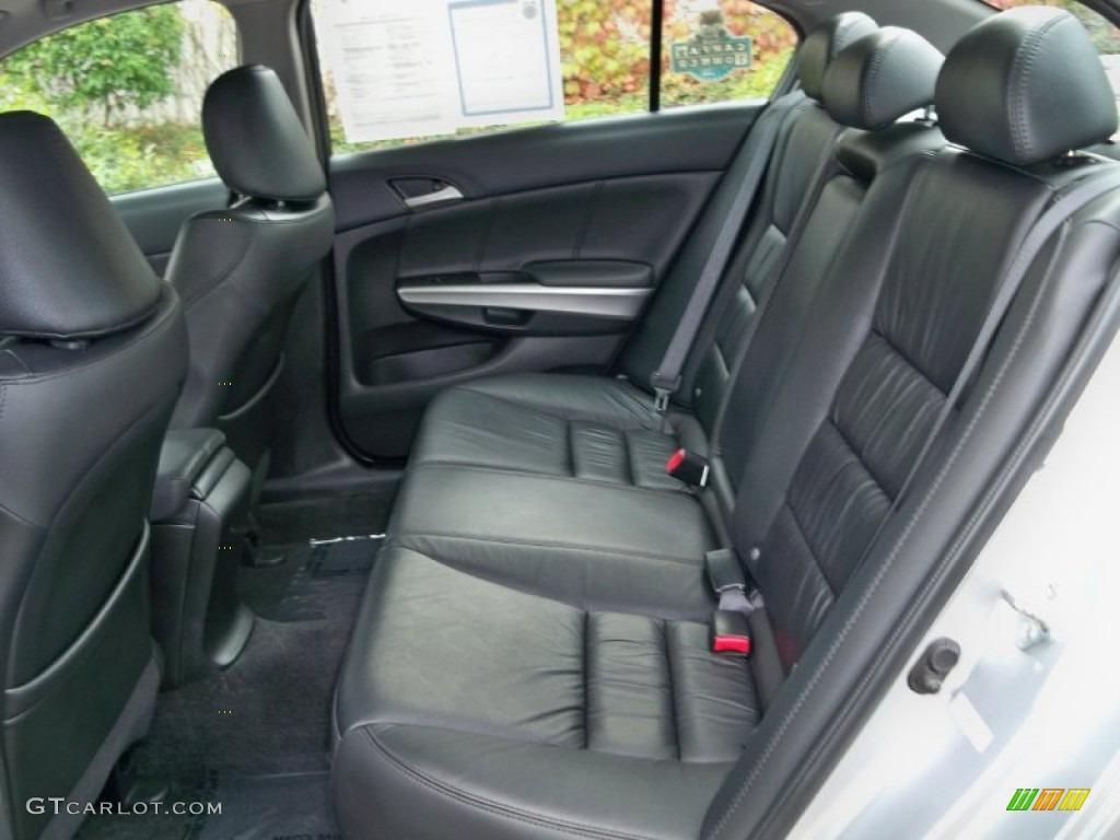 2009 Honda Accord Ex L V6 Sedan Ex L Rear Seat In Black Leather Photo 56505468
