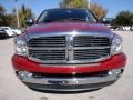 2007 Inferno Red Crystal Pearl Dodge Ram 3500 Laramie Quad Cab  photo #13