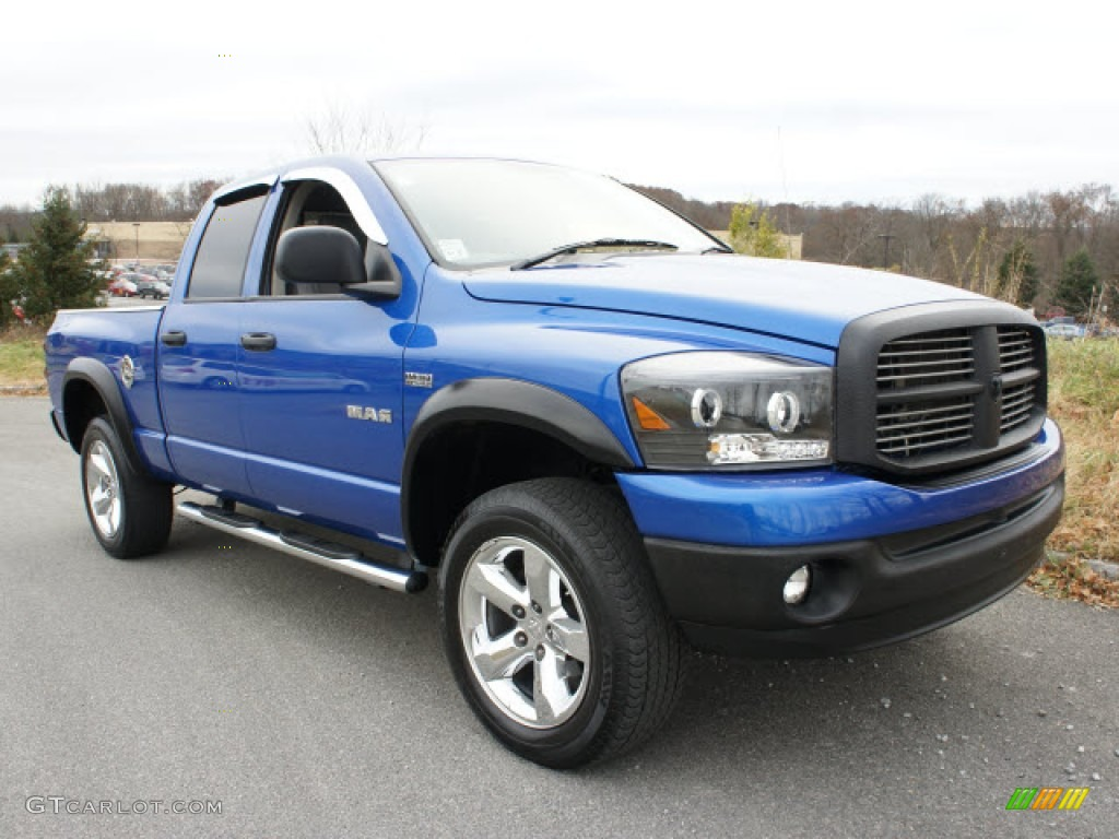 2008 electric blue pearl dodge ram 1500 big horn edition quad cab 4x4 56514418. Black Bedroom Furniture Sets. Home Design Ideas
