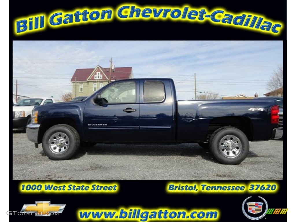 2012 Silverado 1500 LS Extended Cab 4x4 - Imperial Blue Metallic / Dark Titanium photo #1