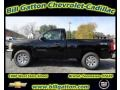 2012 Black Chevrolet Silverado 1500 Work Truck Regular Cab 4x4  photo #1