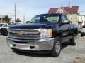 2012 Black Chevrolet Silverado 1500 Work Truck Regular Cab 4x4  photo #2
