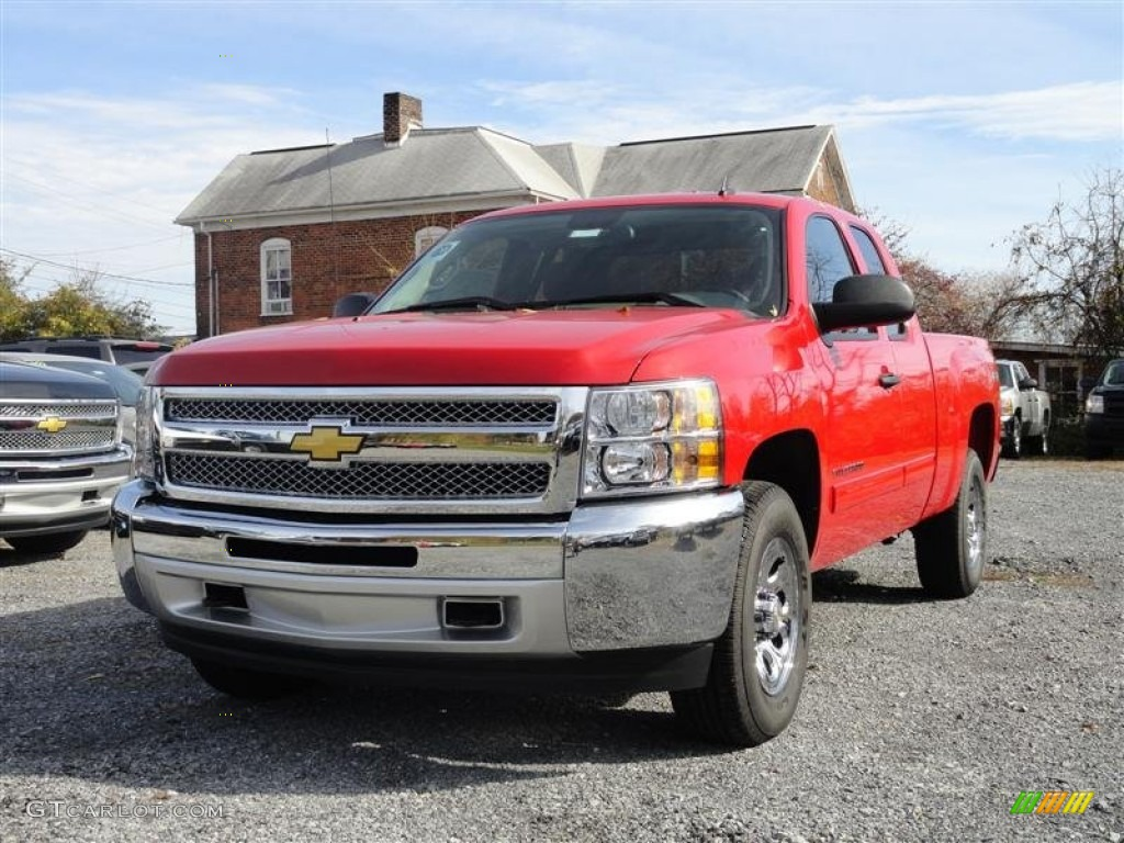 2012 Silverado 1500 LS Extended Cab 4x4 - Victory Red / Dark Titanium photo #2