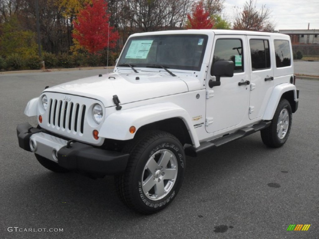 bright white 2012 jeep wrangler unlimited sahara 4x4 exterior photo 56546281. Black Bedroom Furniture Sets. Home Design Ideas
