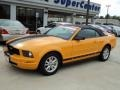 2007 Grabber Orange Ford Mustang V6 Deluxe Convertible  photo #1