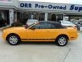 2007 Grabber Orange Ford Mustang V6 Deluxe Convertible  photo #5