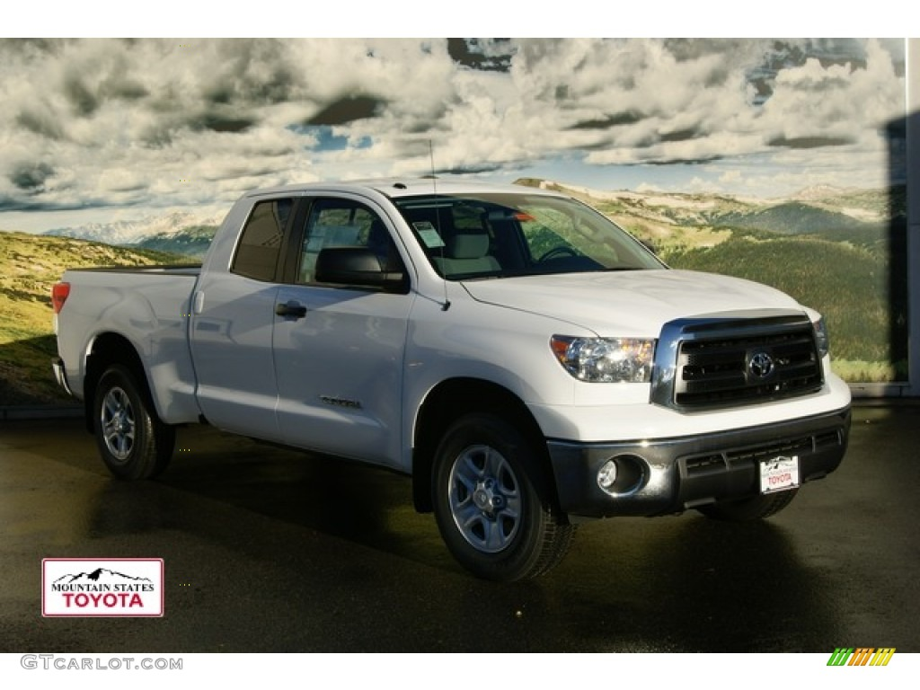 2012 super white toyota tundra double cab 4x4 56513668 car color galleries. Black Bedroom Furniture Sets. Home Design Ideas