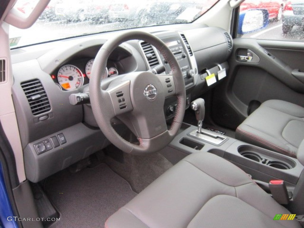 Pro 4x Graphite Red Interior 2012 Nissan Frontier Pro 4x Crew Cab 4x4 Photo 56555950