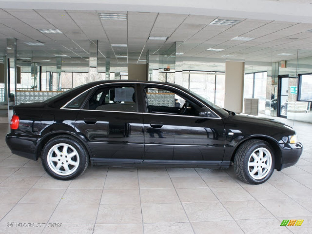 Brilliant Black 1999 Audi A4 2 8 Quattro Sedan Exterior