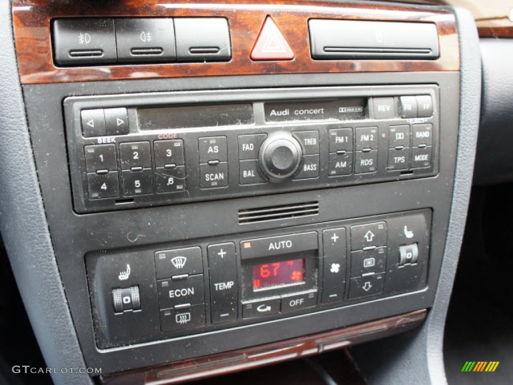 1999 audi a4 2 8 quattro sedan audio system photo. Black Bedroom Furniture Sets. Home Design Ideas