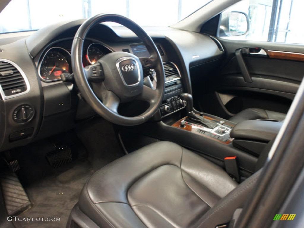 Black Interior 2009 Audi Q7 3 6 Premium Quattro Photo