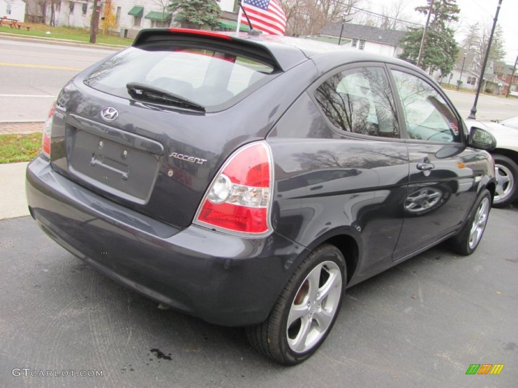 Charcoal Gray 2007 Hyundai Accent Se Coupe Exterior Photo