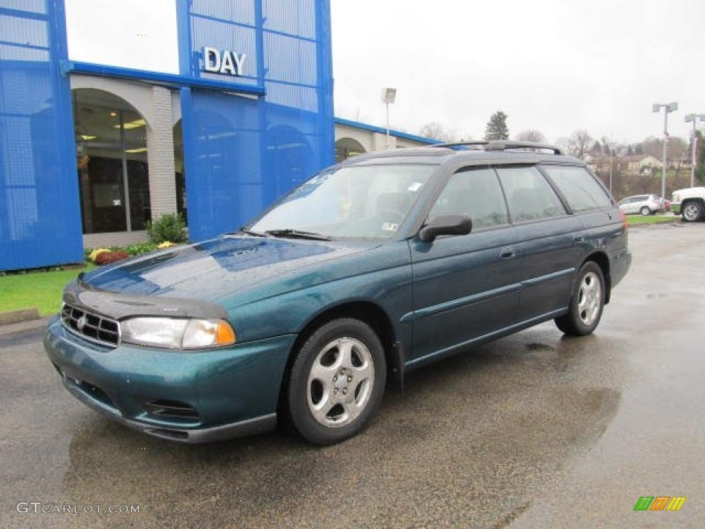 1999 legacy l wagon spruce green pearl gray photo 1