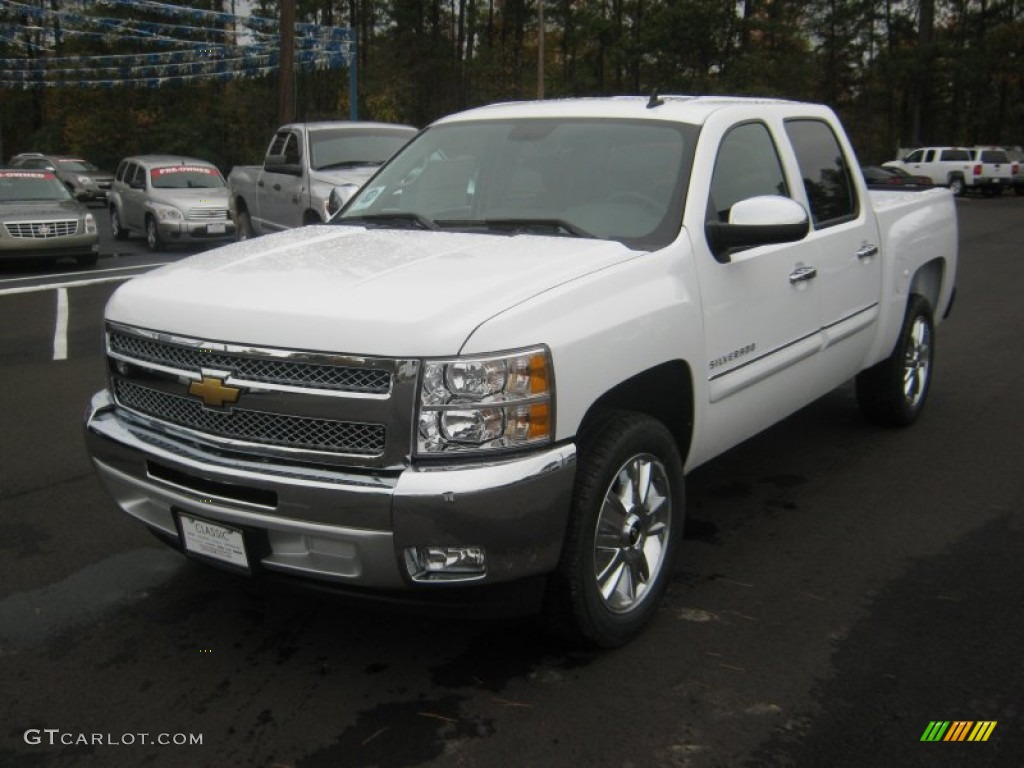 2012 summit white chevrolet silverado 1500 lt crew cab 56564400 car color. Black Bedroom Furniture Sets. Home Design Ideas