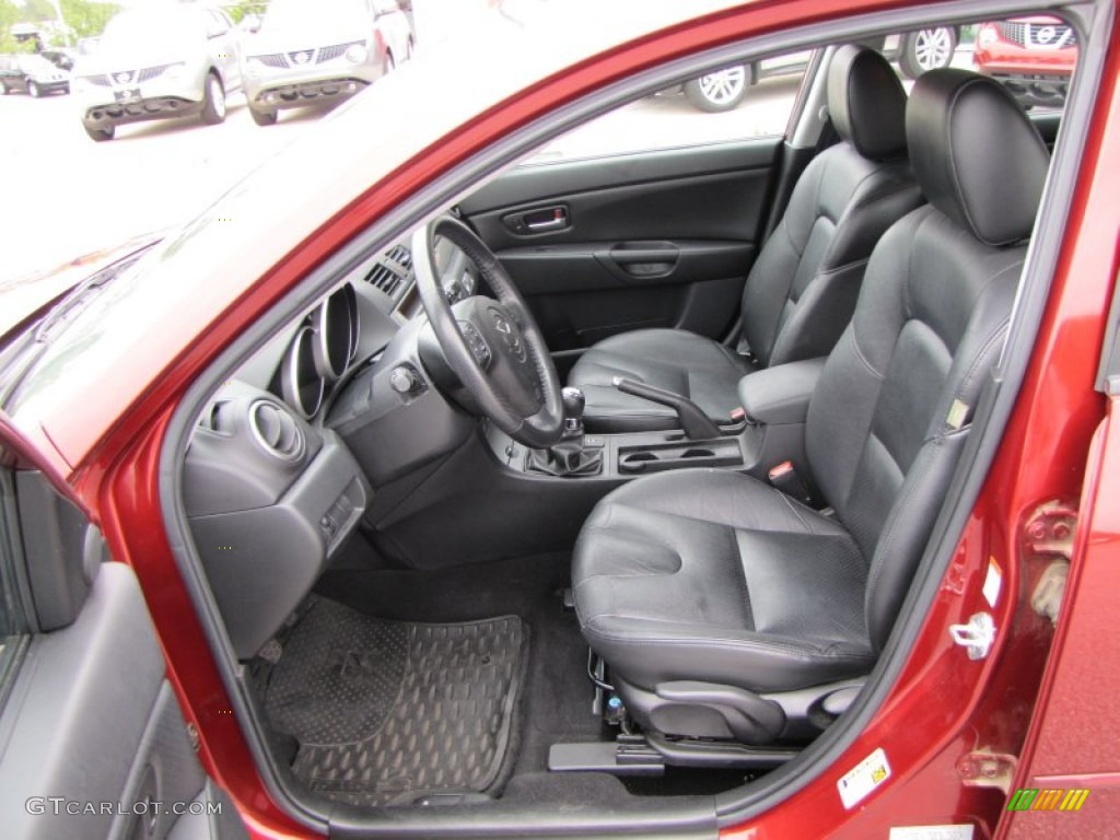 Black Interior 2006 Mazda Mazda3 S Grand Touring Hatchback Photo 56595489