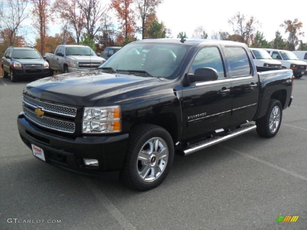 2012 Black Chevrolet Silverado 1500 Ltz Crew Cab 4x4
