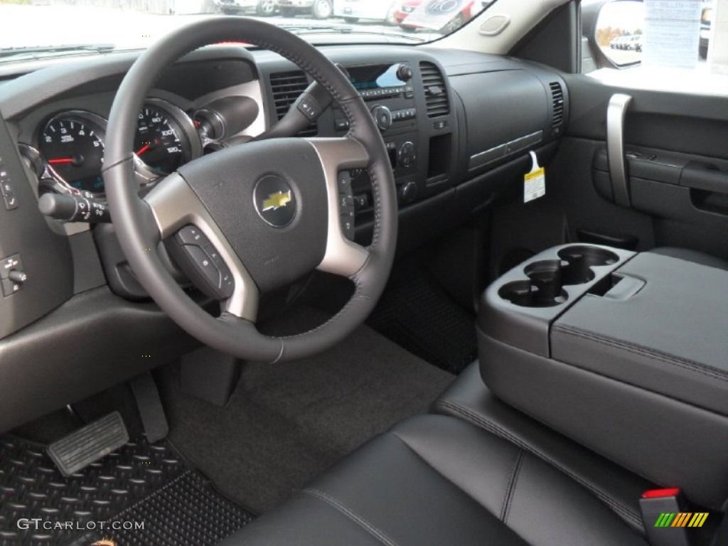 Ebony Interior 2012 Chevrolet Silverado 1500 Lt Crew Cab Photo 56597358