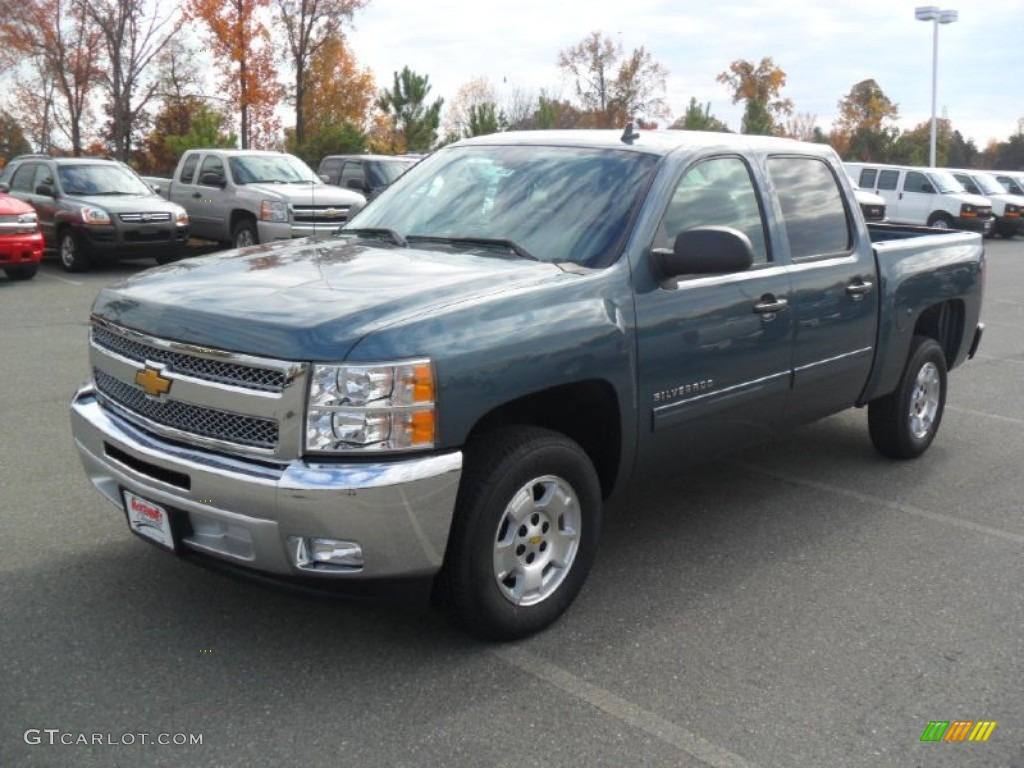 2012 Silverado 1500 LT Crew Cab - Blue Granite Metallic / Ebony photo #1