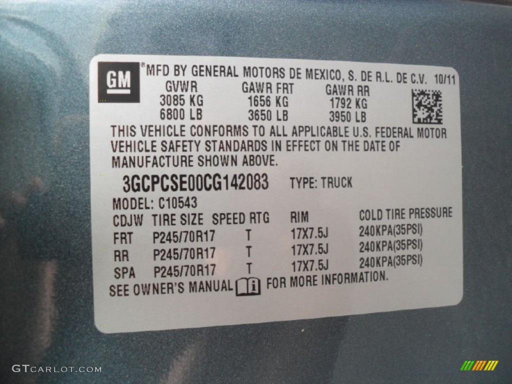 2012 Silverado 1500 LT Crew Cab - Blue Granite Metallic / Ebony photo #6