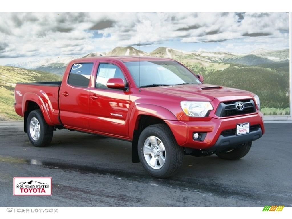 2012 Barcelona Red Metallic Toyota Tacoma V6 TRD Sport Double Cab 4x4 ...