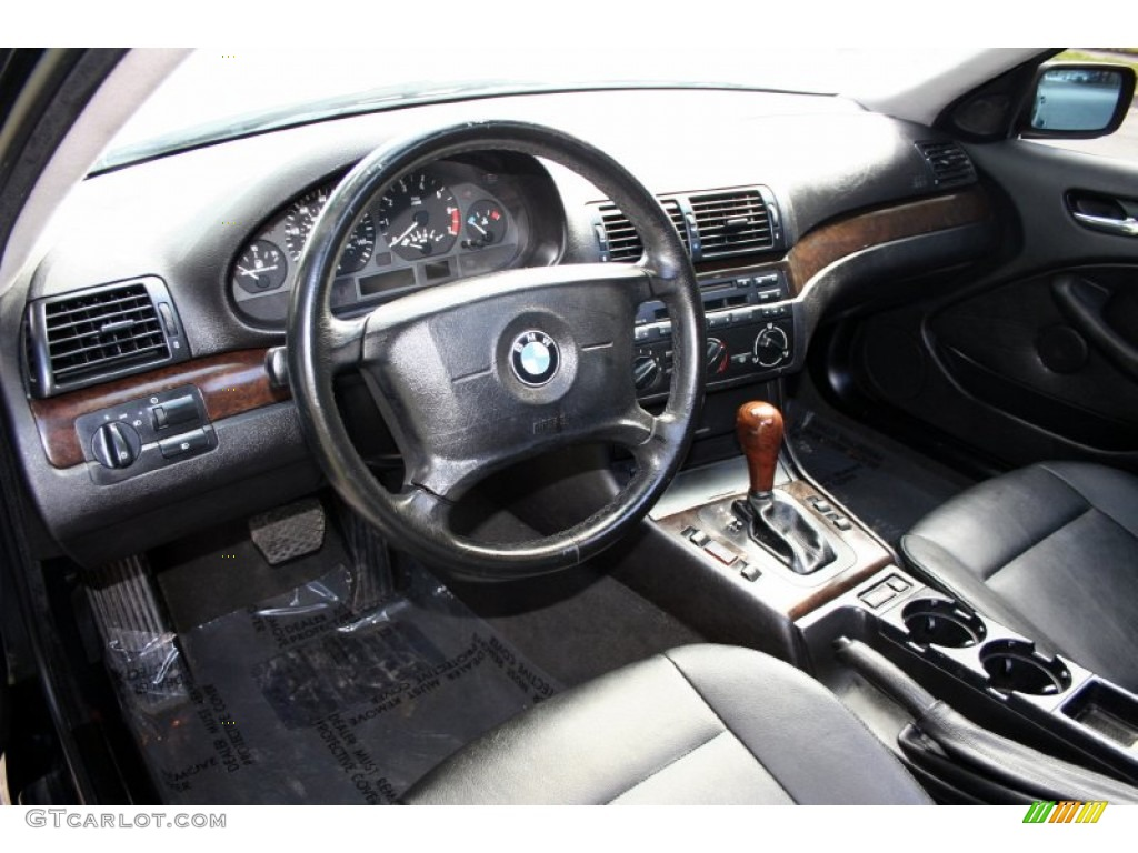 Black Interior 2001 Bmw 3 Series 325i Sedan Photo