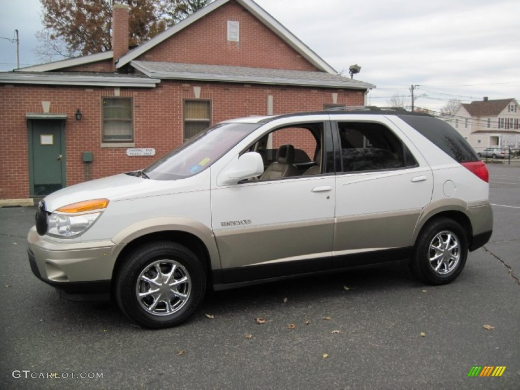 2002 bright white buick rendezvous cxl awd 56610383. Black Bedroom Furniture Sets. Home Design Ideas