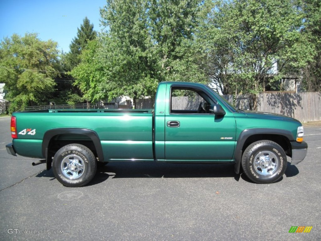 meadow green metallic 2000 chevrolet silverado 1500 ls regular cab 4x4 exterior photo 56629122. Black Bedroom Furniture Sets. Home Design Ideas