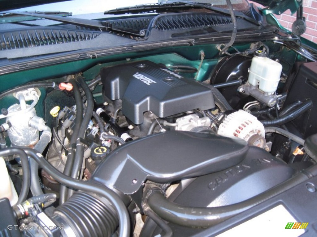 2000 chevrolet silverado 1500 ls regular cab 4x4 4 8 liter ohv 16 valve vortec v8 engine photo. Black Bedroom Furniture Sets. Home Design Ideas