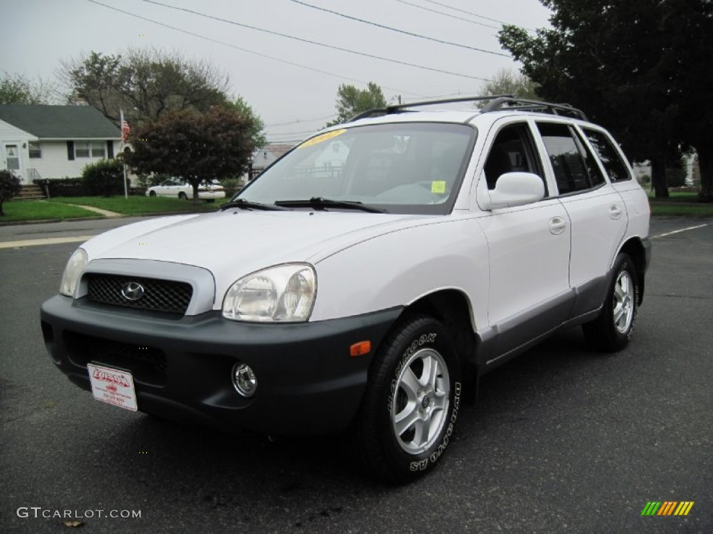 2002 nordic white hyundai santa fe lx awd 56610321 photo 2 car color galleries. Black Bedroom Furniture Sets. Home Design Ideas