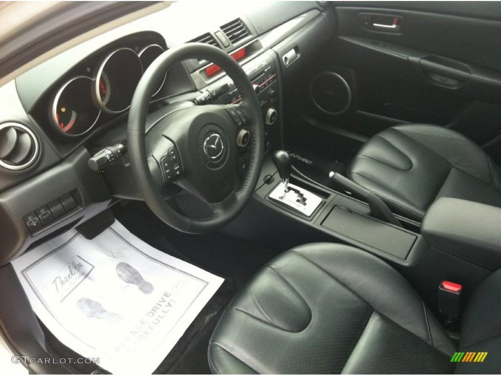 Black Interior 2006 Mazda Mazda3 S Grand Touring Sedan Photo 56650330