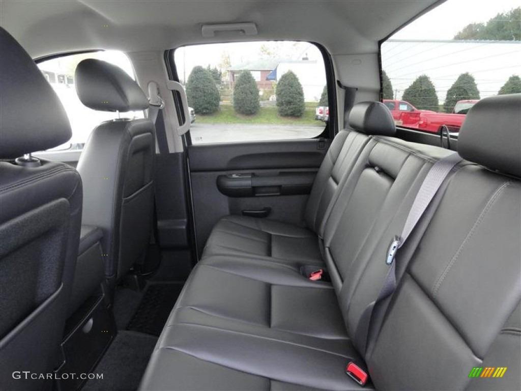 Ebony interior 2012 chevrolet silverado 2500hd lt crew cab 4x4 photo 56662506
