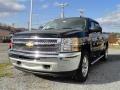 2012 Black Chevrolet Silverado 1500 LS Crew Cab 4x4  photo #2