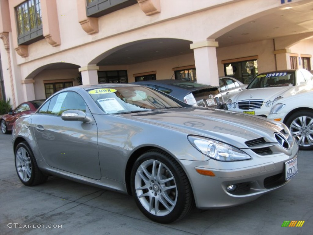 2008 pewter metallic mercedes benz slk 280 roadster 56609654 car color galleries. Black Bedroom Furniture Sets. Home Design Ideas