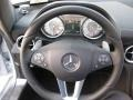 SLS Black leather wrapped steering wheel
